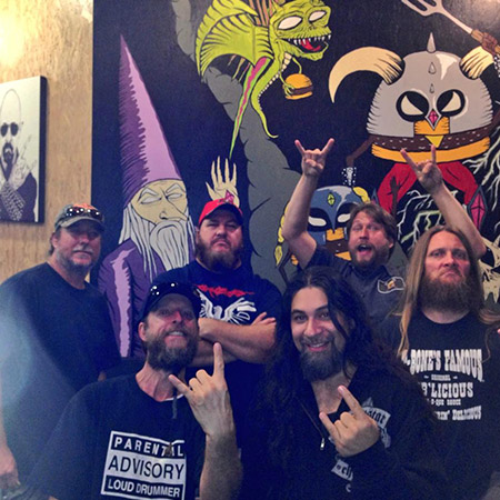 Florida metal legends Obituary at their Meat and Greet!