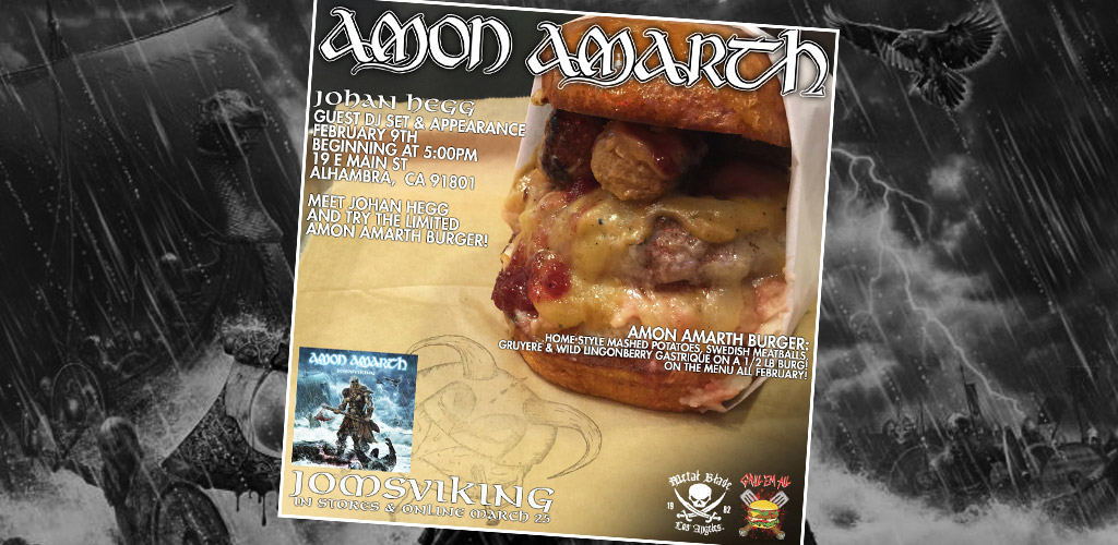 Amon Amarth Burger of the Month